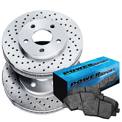 1991-1999 3000GT Full Kit Gold Hart Drilled Slotted Brake Rotors and Ceramic Pad