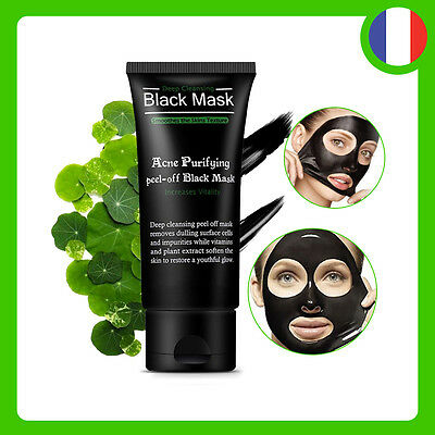 Masque Charbon Point Noir Acné Nez Visage Peeling Black Mask - 50ml