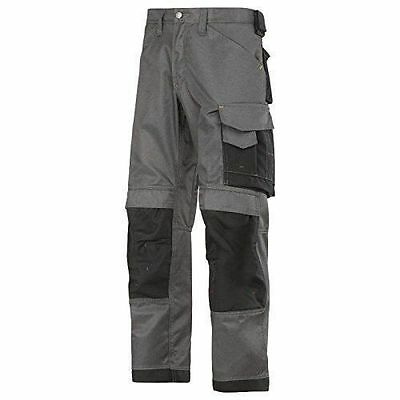 Snickers Grey/black Cordura Multi Pocket Work Trousers 3312 3-Series Duratwill