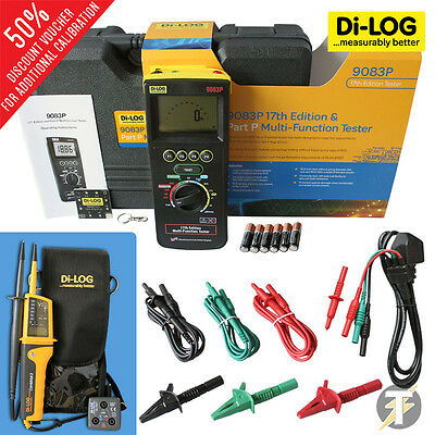 Di-Log 9083P 18th Edition Multifunction Tester KIT1 with Extras and Calibration