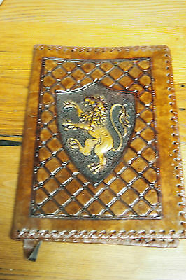 Italian Tooled Leather Journal / Book Cover - Brown