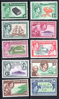 PITCAIRN ISLAND	SG 1-8	1940	KGVI Definitive Set of 10		MH