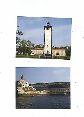 2 French Lighthouse Postcards