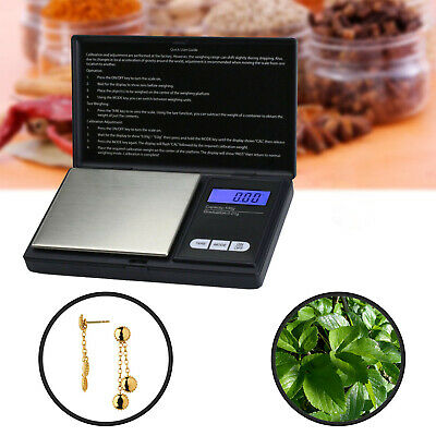 Digital Pocket Scales Milligram Mini + Calibration Weight Electronic 100g 0.01g
