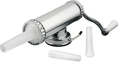 New AVANTI Homemade Aluminum Sausage Maker 1Kg with 3 Filling Nozzles (RRP $67)