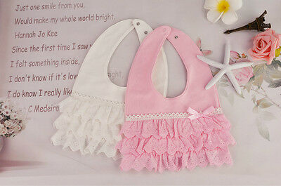 Baby Girl Feeding Lace Cake Saliva Towel Dribble Toddler Princess Bibs Bandana