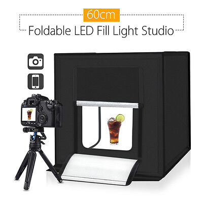 PULUZ 60cm Photography SoftBox Kit Light Tent Studio Waterproof w/ 3 Backgrounds