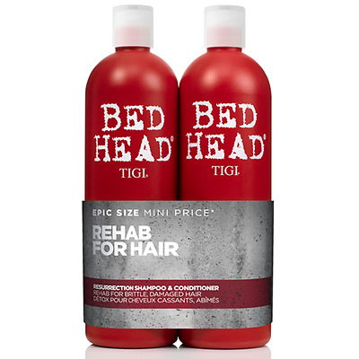 TIGI Kit Bed Head Resurrection Shampoo+Balsamo 750ml DANNEGGIATI