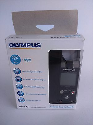 Olympus DM-670 Digital Dictation Machine Complete with box