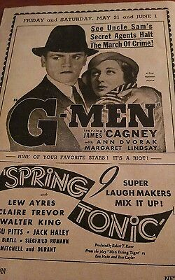 1935 movie flyer CAGNEY, BURNS & ALLEN, others