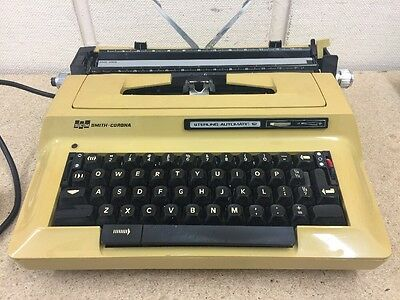Smith Corona Sterling Automatic 12 Electric Typewriter Cream