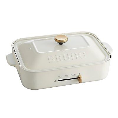 New BRUNO Compact Hot Plate Brown BOE021-BR AC100W Grill Takoyaki