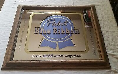 Vintage Pabst Blue Ribbon Beer mirror 23 1/2 x 19 1/2 inches