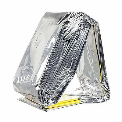 EMERGENCY SURVIVAL SILVER MYLAR POCKET SLEEPING BAG 213 x 92cm 120g