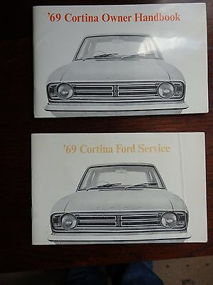 Ford Cortina Mk2 Owners Handbook & Service Book 1969