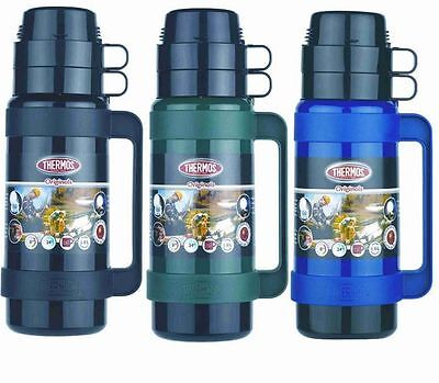 Thermos Mondial Vacuum Flask Black/Green/Blue