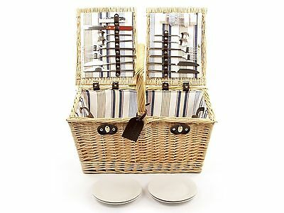 Greenfield Collection Park Lane Willow Picnic Hamper for 4-People