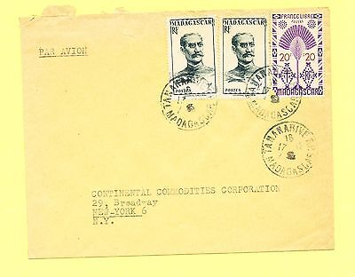Madagascar, commercial cover, #277, #254, air mail, Tananarive