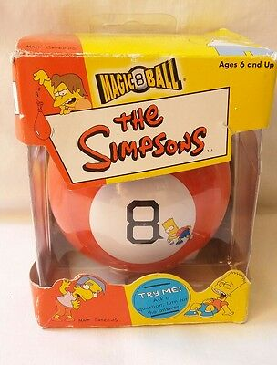 The Simpsons Magic 8 Ball Collectable Toy From 2002 Fully Working With Box
