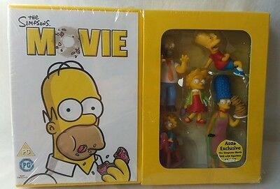 The Simpsons Movie DVD And Collectable Simpsons Family Pack Figures - Rare -NEW