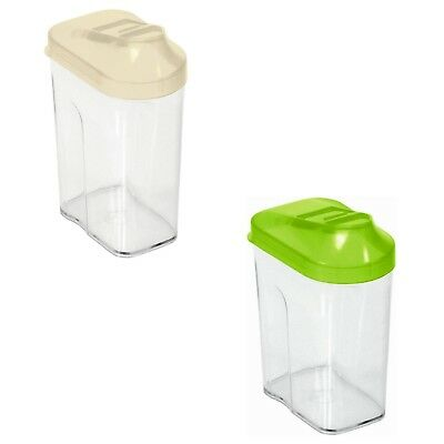 Storage Box Plastic Container with dispenser with a capacity of 0.5 liters New