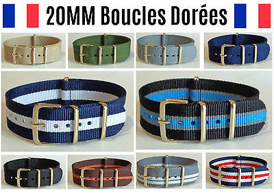 ★ 20MM ★ Bracelet Montre Watch Band Strap Nylon Nato Otan Militaire Army Bond