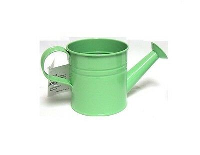 Pastel Coloured Kids Childrens Small Zinc Metal Watering Can Plant Pot Tin GREEN