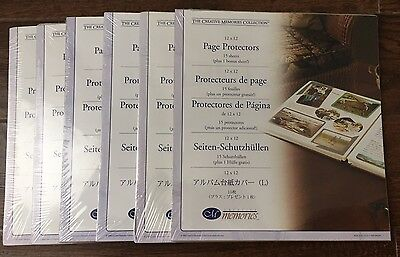 Creative Memories 96 12x12 Page Protectors  6 Packs Of 16 Old Style 2004