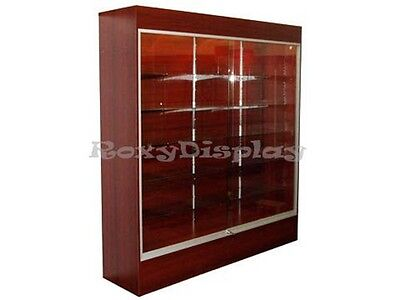 Wall Cherry Display ShowCase Retail Store Fixture W/Lights Knocked Down #WC6C-SC