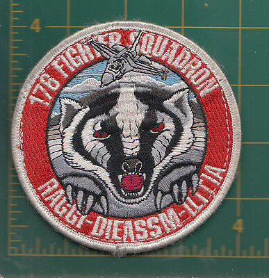 Authentic Air Force USAF  176th Fighter Squadron, Raggi-Dieassm-Ilitia, F-16