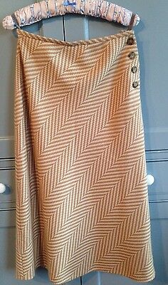 Jaeger Wool And Cashmere Lined  Skirt Size 10 Vintage