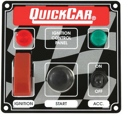 QUICKCAR RACING PRODUCTS 4-5/8 x 4-3/8 in Dash Mount Switch Panel P/N 50-023
