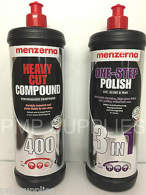 Menzerna ULTIMATE TWIN PACK Heavy Cut 400 and One Step 3 in 1 2 Litres TOTAL