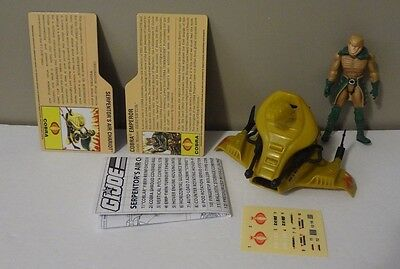 2008 GI Joe Serpentor's Air Chariot w/Figure/Sticker Sheet/File Card Hasbro -P