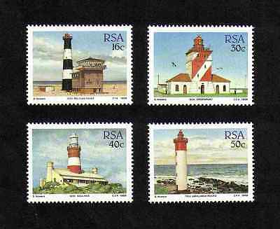 South Africa 1988 Lighthouses complete set of 4 values (SG 649-652) MNH