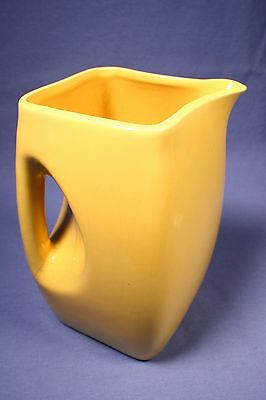 Vintage Square Ceramic Pitcher Niloak Style