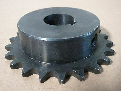 "#40 Chain 21 Tooth 1 3/16"" Bore Sprocket With Key Way"