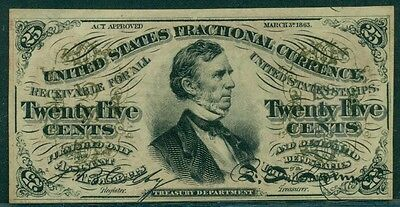 """25¢ Fractional Currency, w/""""a"""" on obverse, red reverse, Fr. #1292, Choice UNC"""