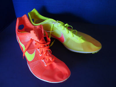 NIKE Track & Field~ZOOM VICTORY~Yellow / Red Running Shoes~Men's 15~NEW