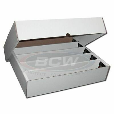 1x 5000 Count CT Storage Box BCW Corrugated Cardboard Storage Boxes (FULL LID)