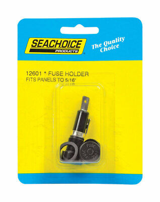 SEACHOICE ROUND PANEL MOUNT FUSE HOLDER Up To 15A In-Dash  SCP 12601