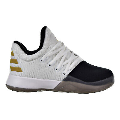 22f67f09543 Adidas Harden Vol.1 C Little Kid s Shoes White Black Metallic Gold by3672