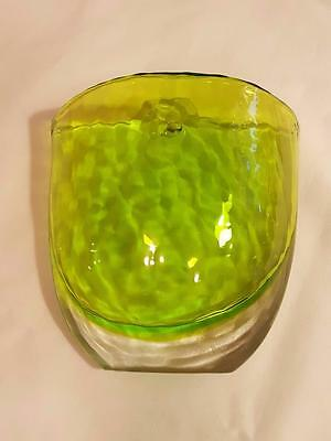 Decorative Green Heavy Thick Glass Wall Pocket