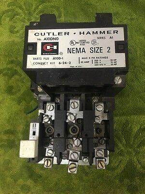 Culter Hammer Nema Size 2  A10Dno  Series  A1   Used
