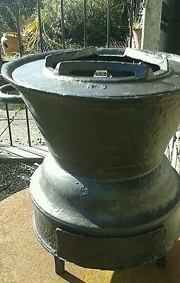 Vintage cast iron heater patio fire /stove