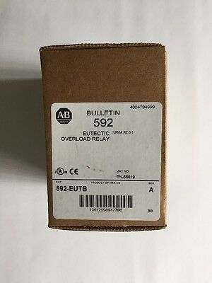 Allen Bradley Eutectic Overload Relay 592-EUTB *NEW In Box*