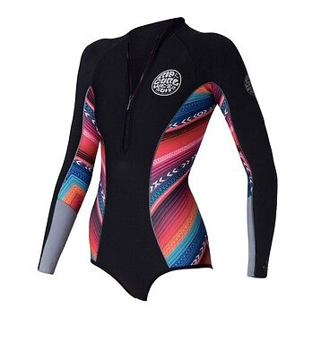 Rip Curl Women's G-Bomb Wetsuit Shorty Sleeves 1mm Summer Spring High-cut