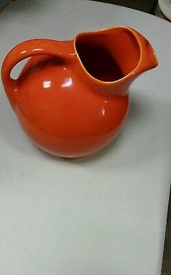 Vintage Bauer orange pitcher