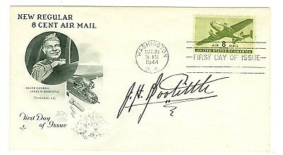 Pilot Jimmy Doolittle Signed 1944 First Day Cover