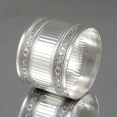 Antique French Sterling Silver Napkin Ring, Neoclassic, Minerve 1, Tétard Frères